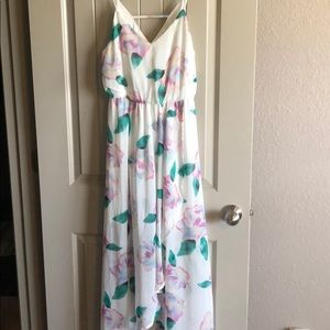 Sienna Sky White Floral Dress w/ Built in Slip